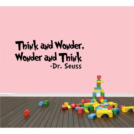Decal ~ Think and Wonder, Wonder and Think:  WALL  DECAL, Dr. Seuss Theme HOME DECOR 10