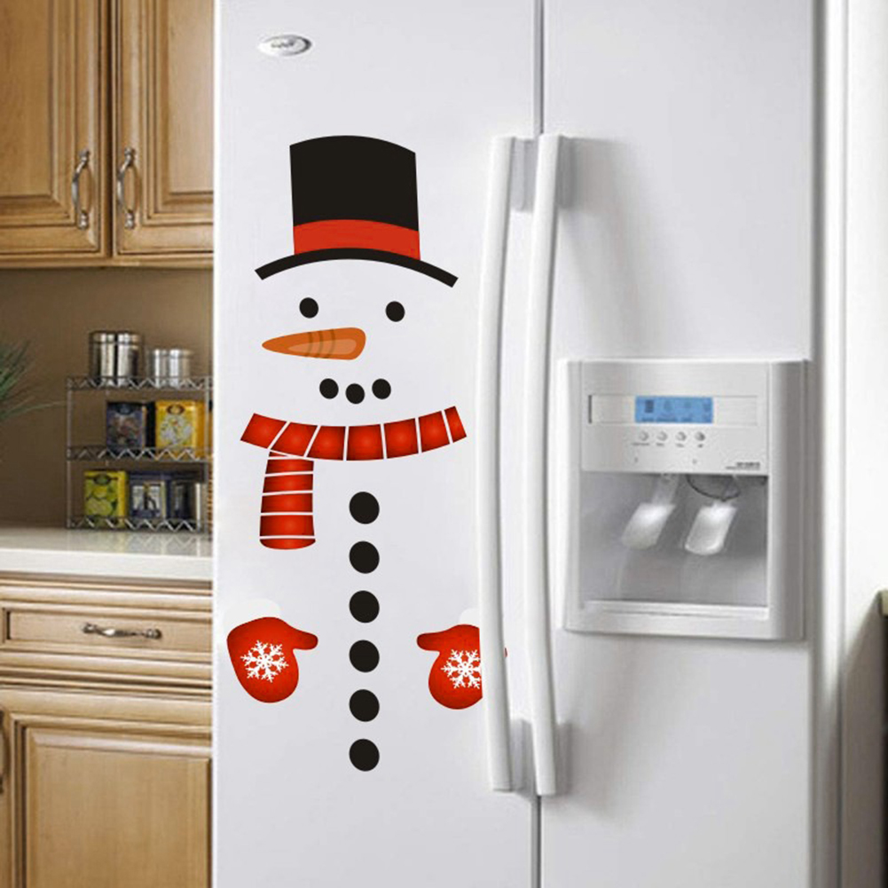 Zonon 27 Pieces Christmas Refrigerator Magnet Snowman Magnet Decoration Cute Xmas Magnet Stickers Holiday Magnet Sets for Christmas Fridge Metal Door Office Cabinets Decoration