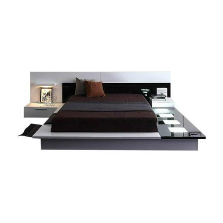 Modrest Impera Modern Platform Bed with Built in Nightstands