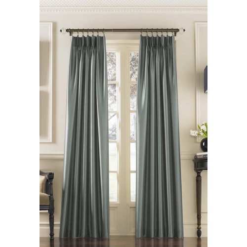 Curtainworks Marquee Solid Blackout Pinch Pleat Single Curtain Panel