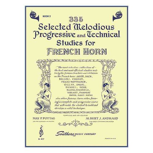 335 Selected Melodious Progressive & Technical Studies for Horn