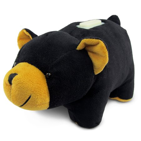 Plush Huggie Black Bear Savings Bank - Bear Bank
