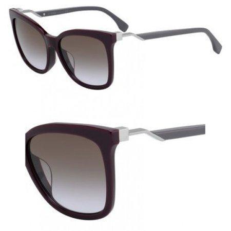 Sunglasses Fendi Ff 244 /F/S 0LHF Opal Burgundy / QR brown violet gradient lens