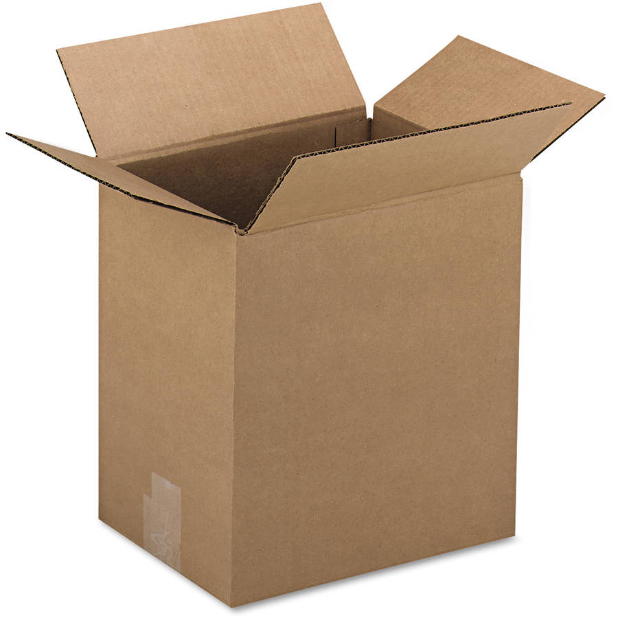 "General Supply Brown Corrugated - Fixed-Depth Shipping Boxes, 12l x 9""W x 3""H, 25/Bundle"