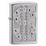 Zippo Bling Emblem High Polish Chrome Pocket Lighter
