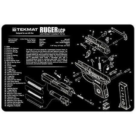 TekMat Handgun Cleaning Mat with Imprint, Black