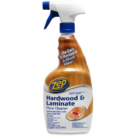 Zep Commercial Prof. Strength Hardwood Floor Cleaner - Spray - 0.25 gal (32 fl oz) - Fresh ScentBottle - 1 Each - Blue