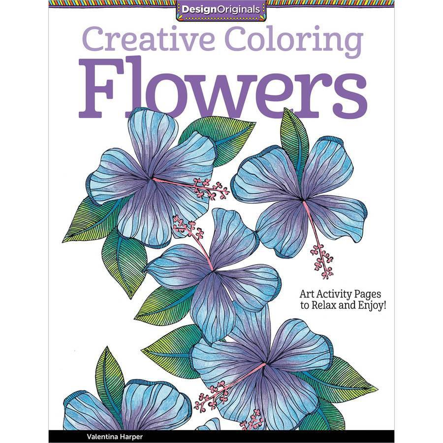 Design Originals Creative Adult Coloring Flowers