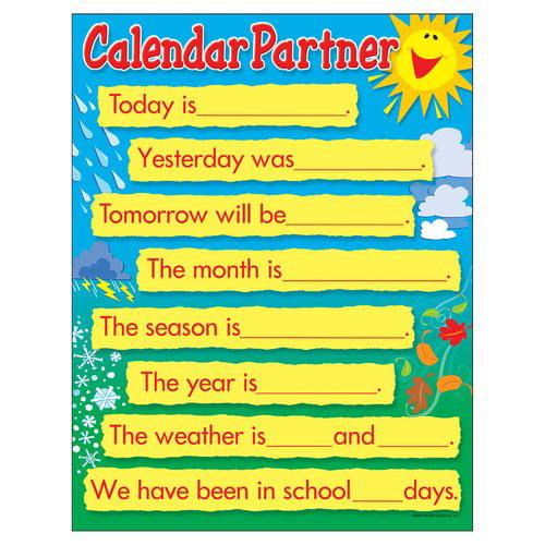 Trend Enterprises Learning Calendar Companion Chart