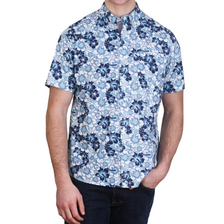 Alpha Beta Cotton Tropical Hawaiian Shirt Aruba Blue - Tropical Shirts
