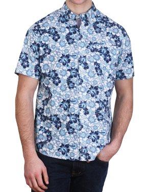 5eb4fab137f2 Product Image Alpha Beta Cotton Tropical Hawaiian Shirt Aruba Blue