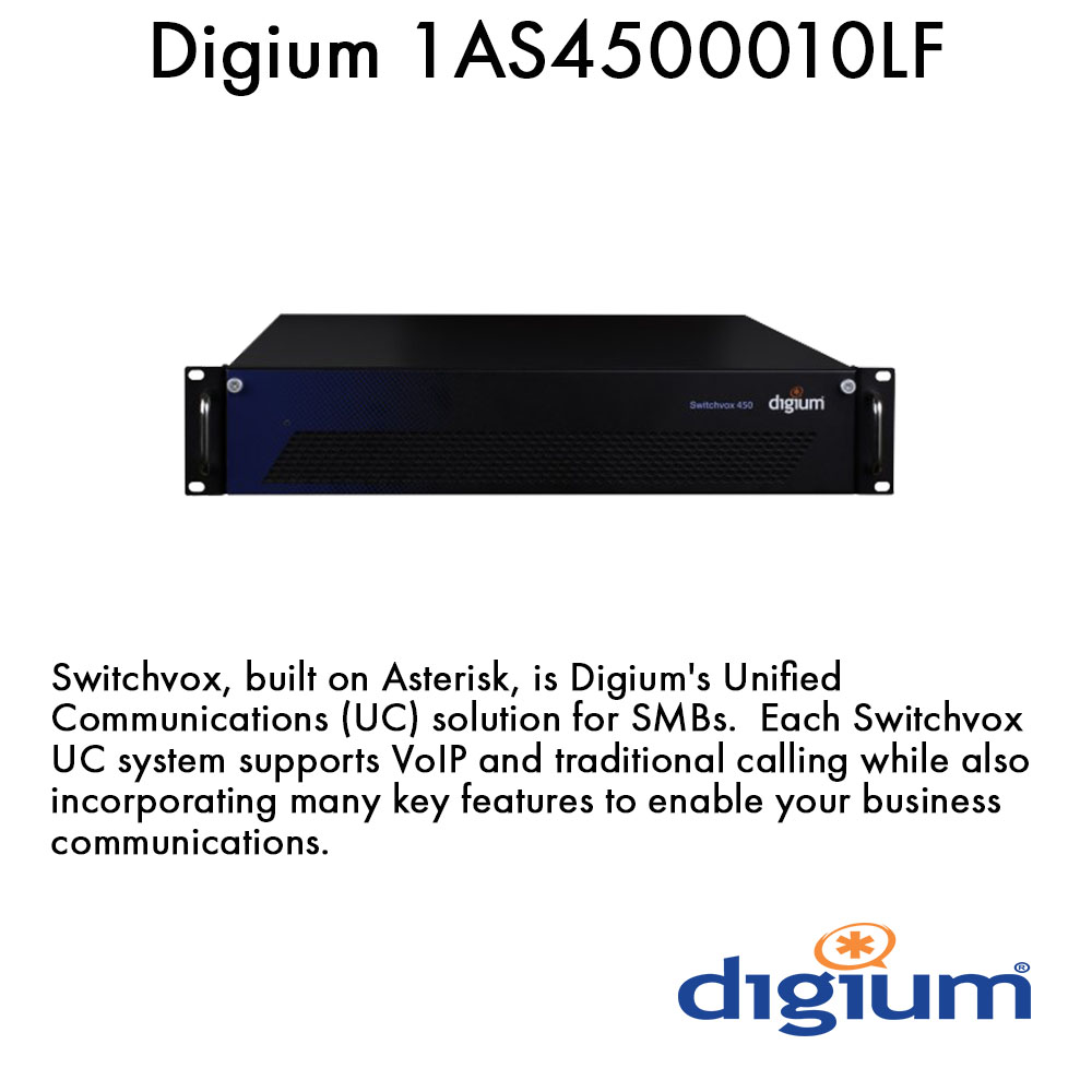 Digium 1AS4500010LF Switchvox 450 Appliance, North America