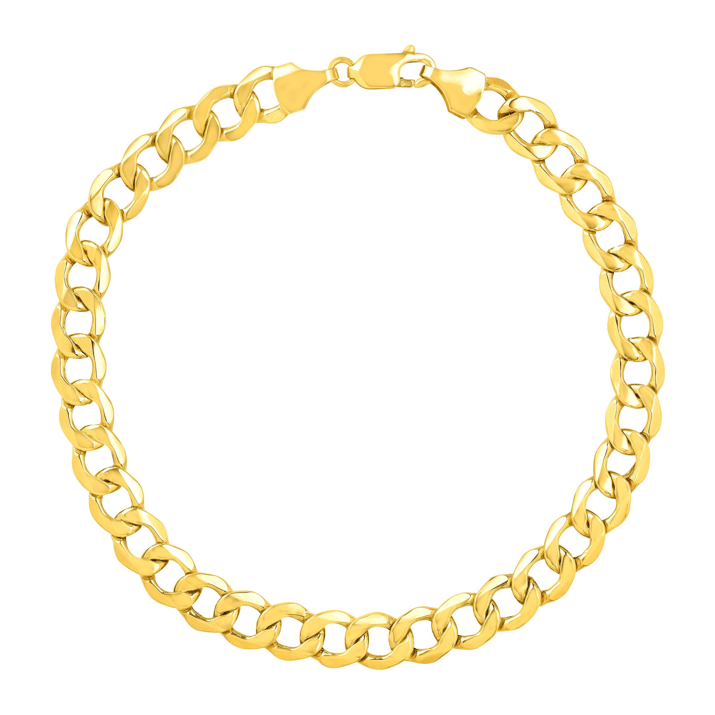 Simply Gold Men's Bevelled Link Bracelet in 10kt Gold by Richline Group