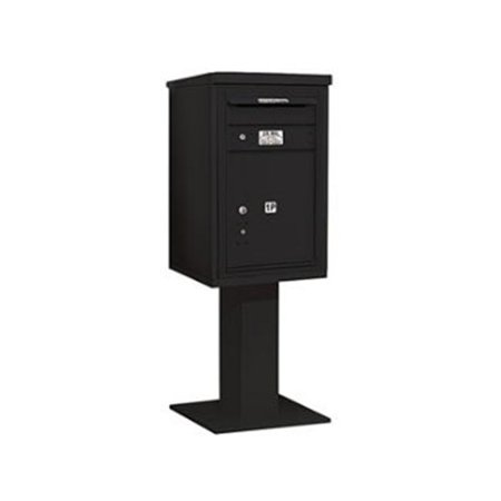 4C Pedestal Mailbox - Single Column - 1 PL5 with Outgoing Mail Compartment - - Outgoing Mail