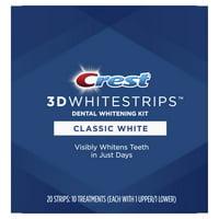 Crest 3D Whitestrips Classic White Teeth Whitening Kit, 20 Strips
