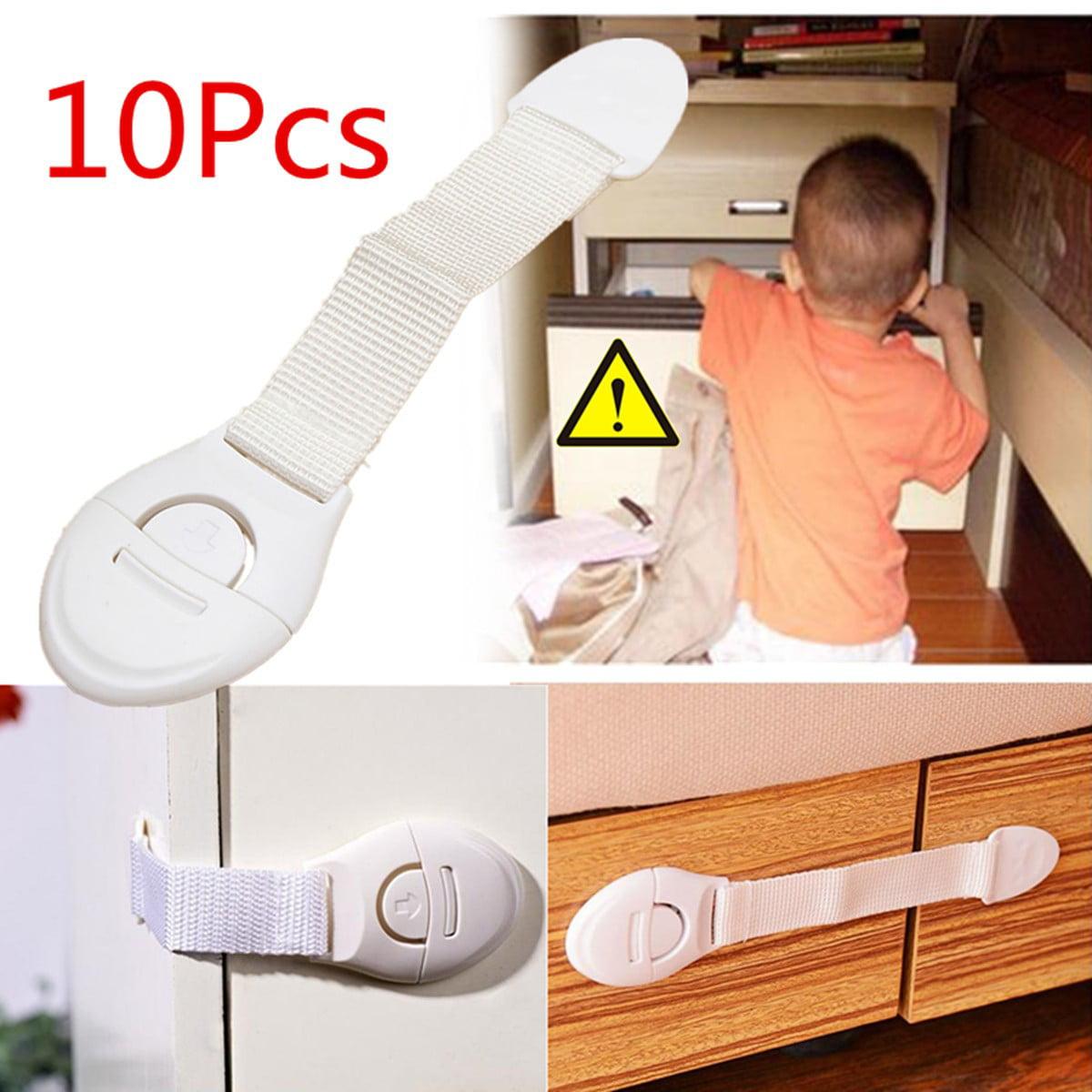 10PCS Child Baby Safety Cupboard Cabinet Locks Pet Proofing Door Drawer Fridge