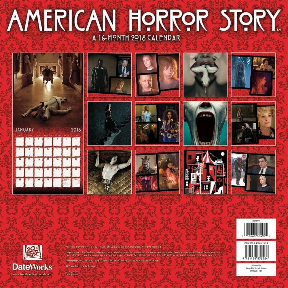 american horror story 2018 wall calendar - walmart