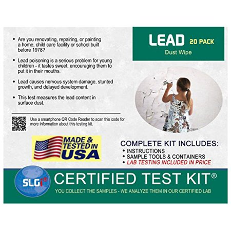 Lead Test Kit in Dust Wipes 20PK (5 Bus  Days) Schneider Labs