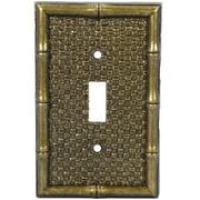Leviton Brass Tiki Bamboo Toggle Switch Wallplate Cover 89601