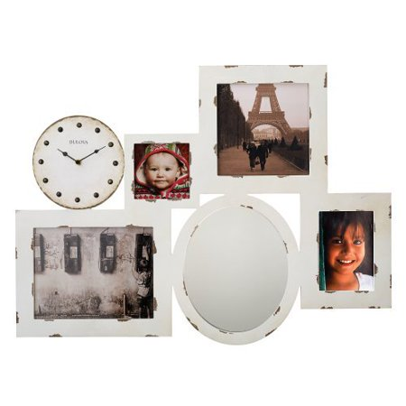 bulova gallery picture frame wall clock