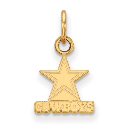 Dallas Cowboys Gold-Plated Extra Small Logo Charm - No Size