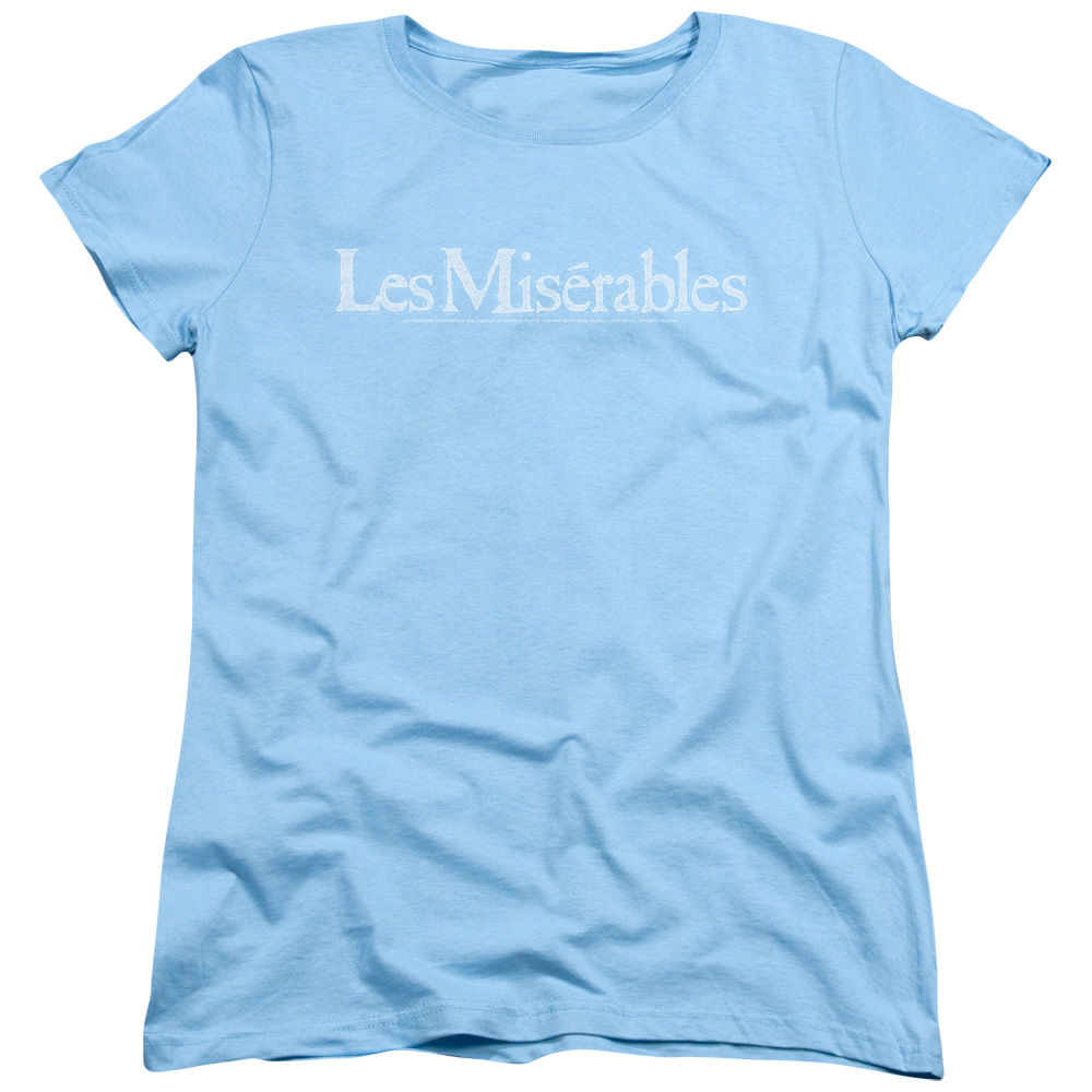 Les Miserables Rubbed Logo Womens Short Sleeve Shirt