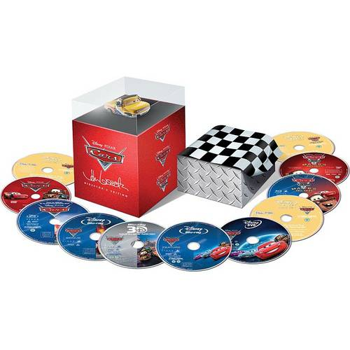 Cars 3-Movie Collector's Set: Cars / Cars Toon: Mater's Tall Tales / Cars 2 (Limited Edition) (3D Blu-ray   Blu-ray   DVD     Digital Copy   Lassetire Die Cast Car) (Widescreen)