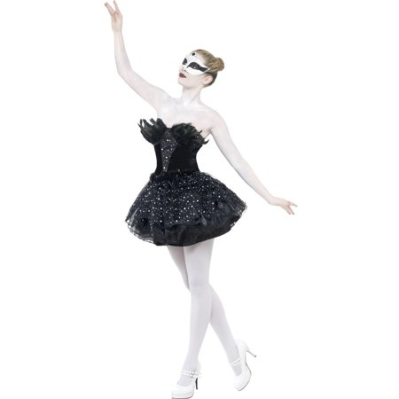 Women's  Gothic Black Swan Masquerade Balet Dance Dress Costume Large 14-16](Black Swan White Swan Halloween)