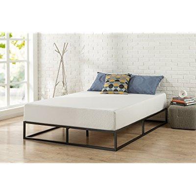 76624f466023 ... zinus modern studio 10 inch platforma low profile bed frame   mattress  foundation   boxspring optional