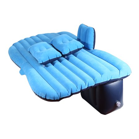 Jeobest Bed Inflatable Mattress - Car Air Bed Inflatable Car Mattress Back Seat Bed Cushion with Air Pump Pillows for Car SUV Travel Camping (Dark