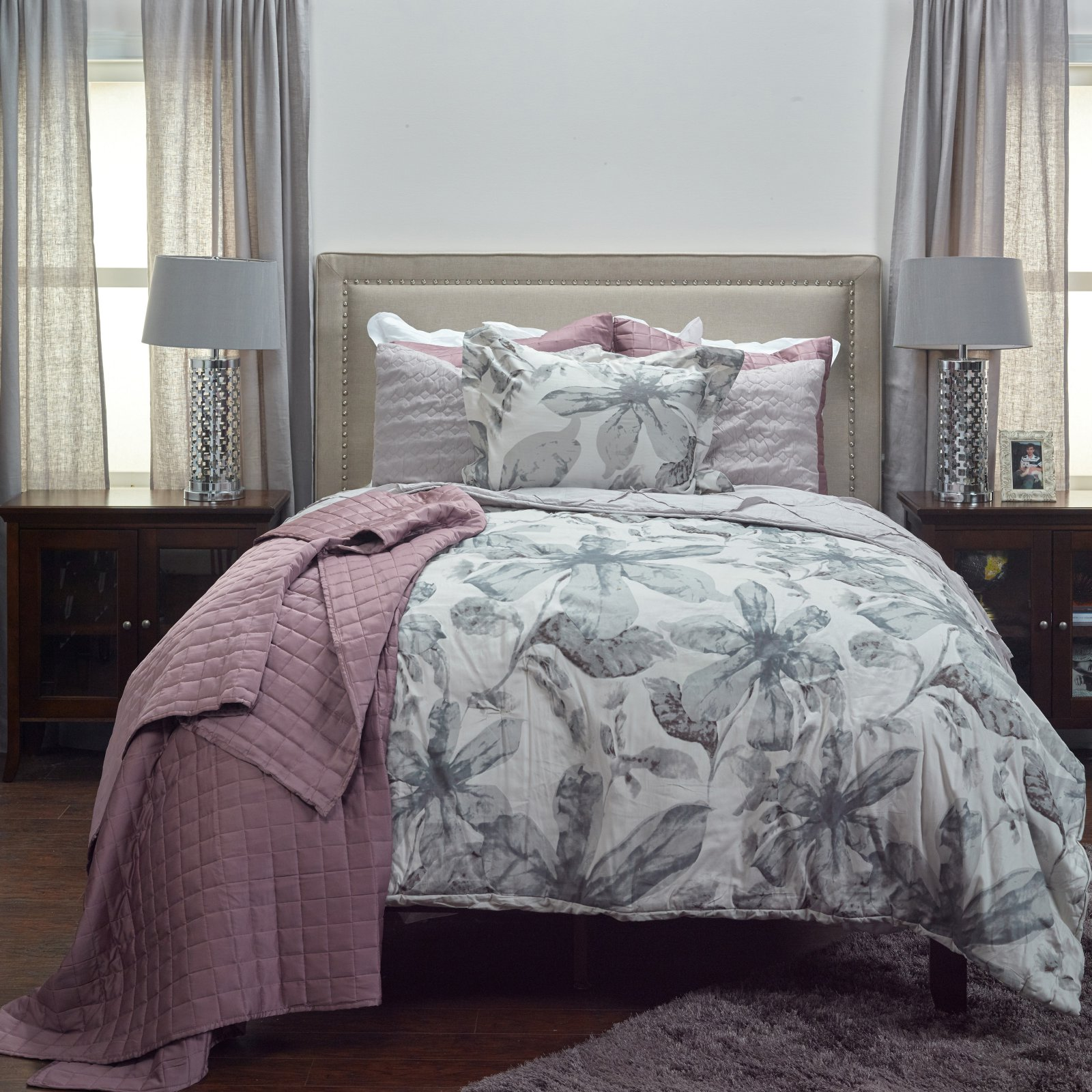 3-Pc Comforter Set in Teal (Queen)
