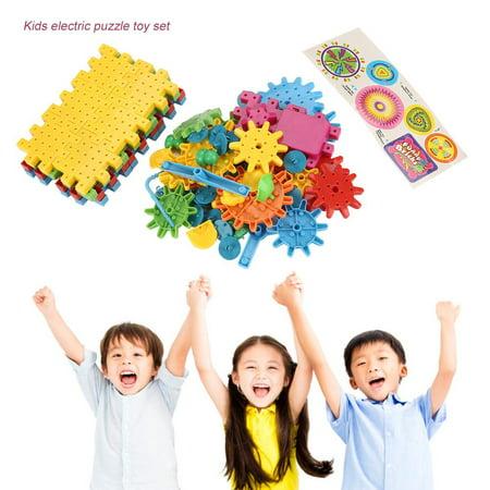 Qiilu 81Pcs/Set Educational Electric Puzzle Kids Children Plastic DIY Building Blocks Funny Toys, Kids Puzzle Toy, Educational Puzzle Toy - image 1 of 13