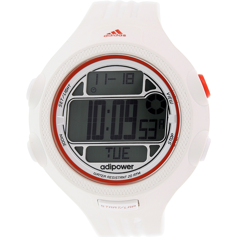 Adidas Men's AdiPower ADP3132 White Silicone Quartz Sport Watch by Adidas