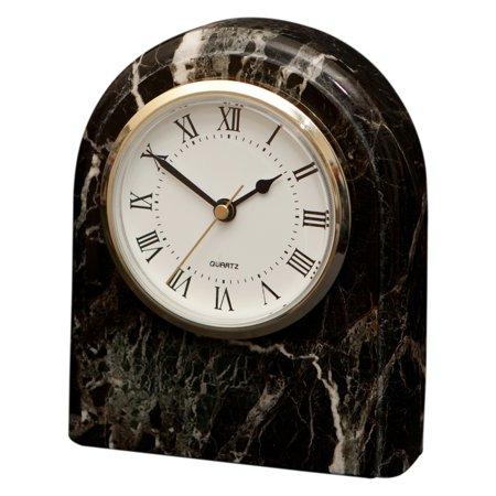 - Polaris Clock - Black Zebra Marble