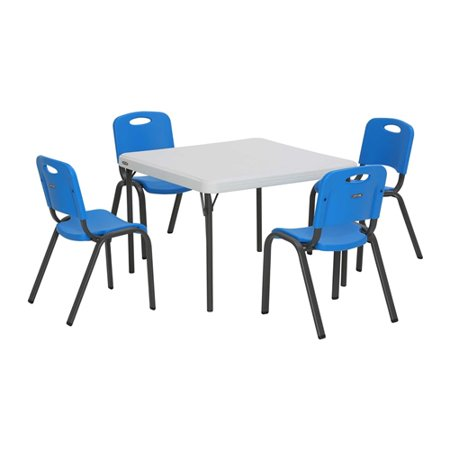Lifetime Kids Table And Chairs Pack Of 5 Blue Walmart Com