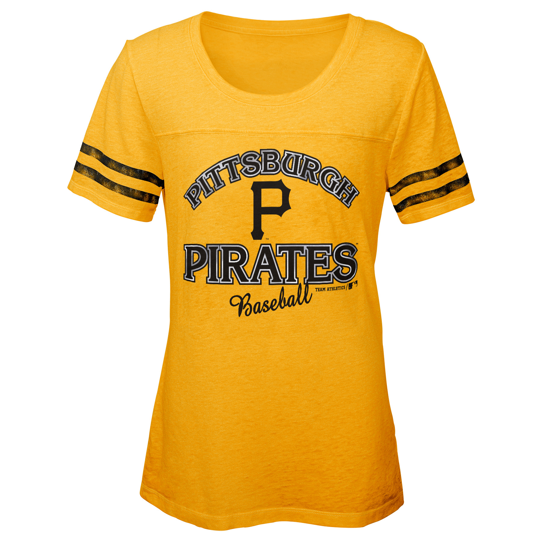 MLB Pittsburgh PIRATES TEE Short Sleeve Girls Fashion 60% Cotton 40% Polyester Alternate Team Colors 7 - 16