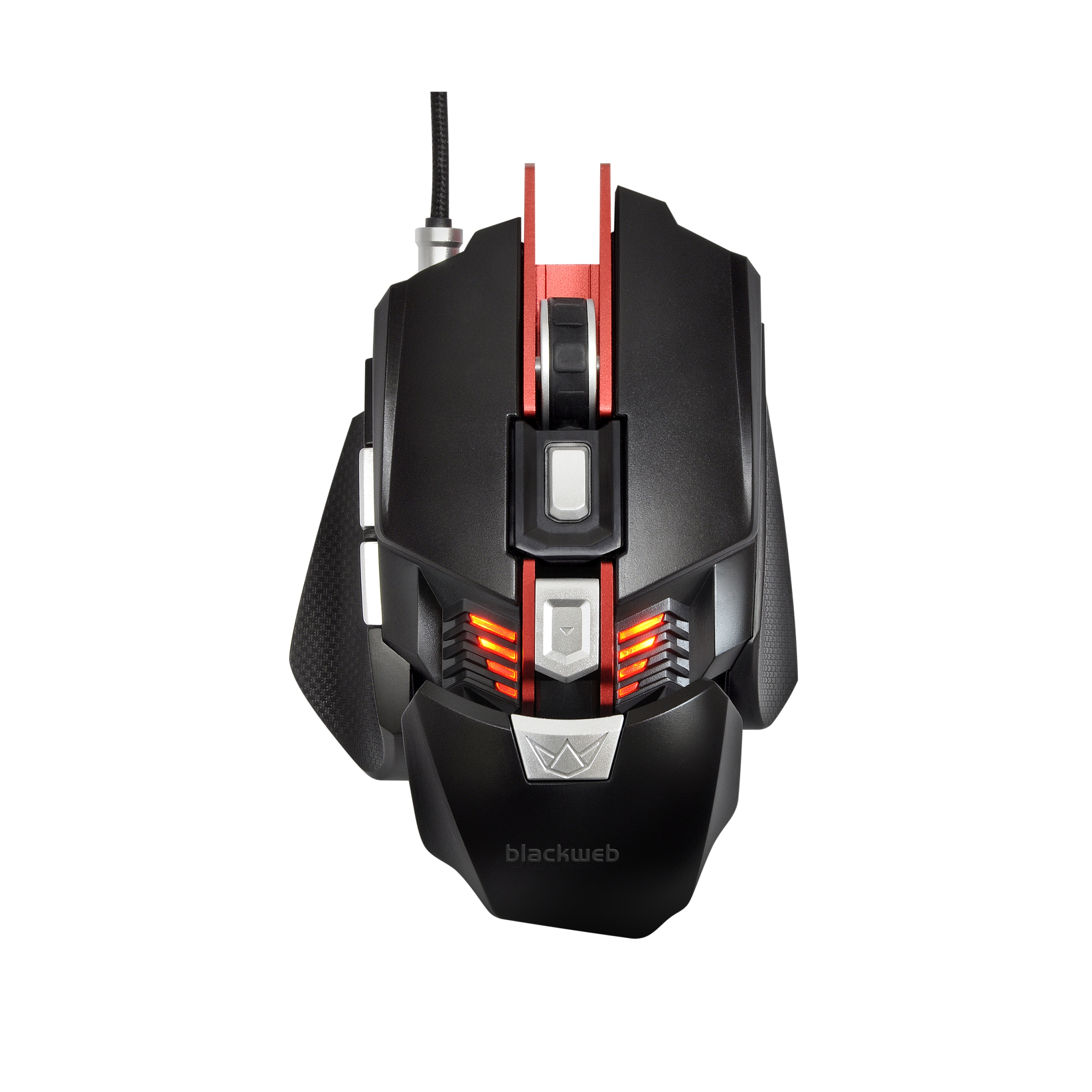 BlackWeb RGB Programmable Gaming Mouse with Adjustable Palm Rest