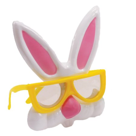 Veil Entertainment Easter Bunny Rabbit Plastic Costume Glasses, One Size