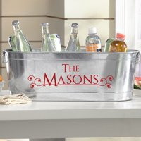 Personalized Galvanized Tailored Style Tub-Available in 8 Font Colors