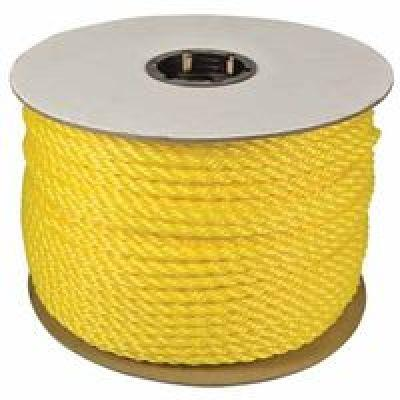 Polypropylene Ropes, 3/8 In X 1,200 Ft, Polypropylene, Yellow