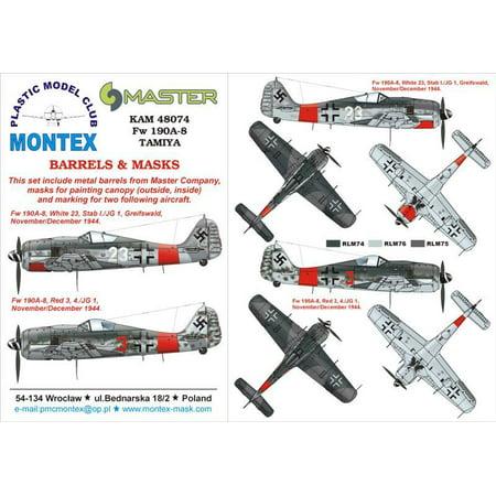 Montex KAM 1:48 Fw-190 A-8 #1 for Tamiya Mask +Metal Part