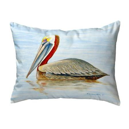 Betsy Drake KS807 11 x 14 in. Summer Pelican Small No-Cord Pillow - image 1 de 1