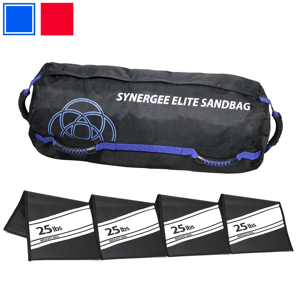9bbdd50b5b2d Synergee Elite Buff Blue Adjustable Fitness Sandbag with (4) Filler ...