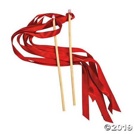 Red Ribbon Wands (Cheap Ribbon Wands)