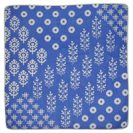 - Quality Cotton Cushion Cover 17 x 17 Blue
