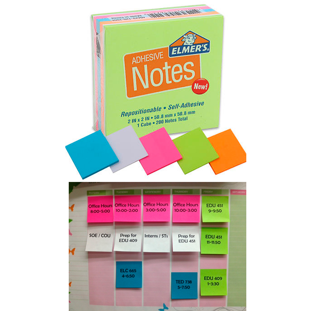 6 Pack Sticky Note 1200 Post It Sheets Cube Self Adhesive Neon Stick Pad 2X2 Lot