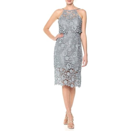 Womens Sheath Dress Freya Halter Lace Popover 4 Halter Sheath Dress