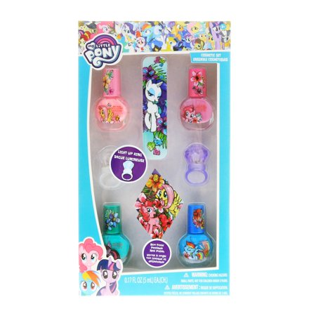 My Little Pony Girls Nail Polish Dress Up Beauty Gift Set Nail File 7pc
