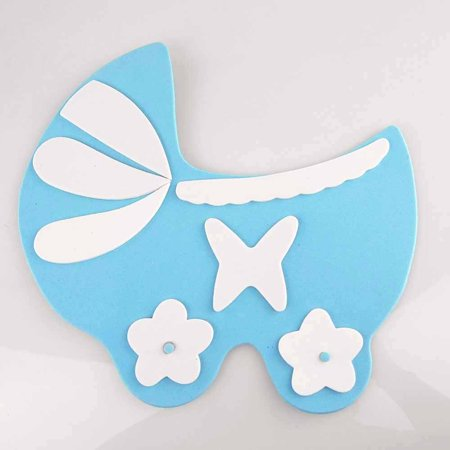Baby Shower Foam Decor, 9-inch, Carriage, Light - Baby Shower Carriage