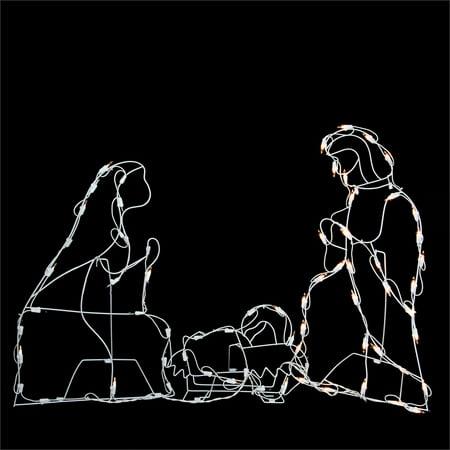Outdoor Lighted Nativity (25.5